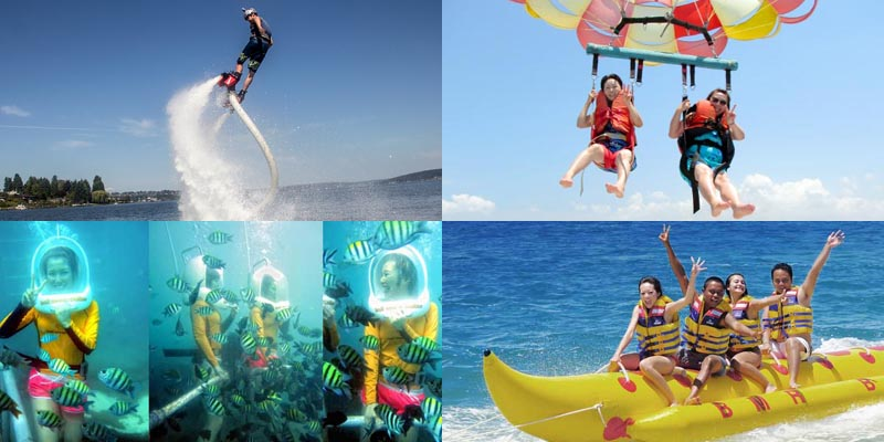 An Image Representing The Multiple Types Of Water Sports.