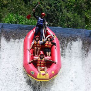 River Rafting In Uttarakhand - Adventure Sports Concept.